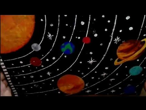 How To Draw Solar System Youtube Solar System For Kids