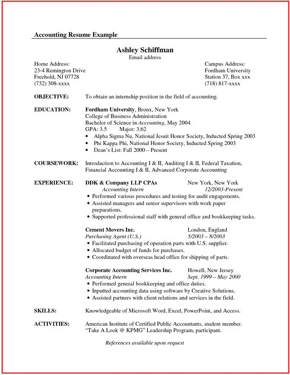 Platinum CPA Review Course - Wiley CPAexcel Professional resume - accounting intern job description