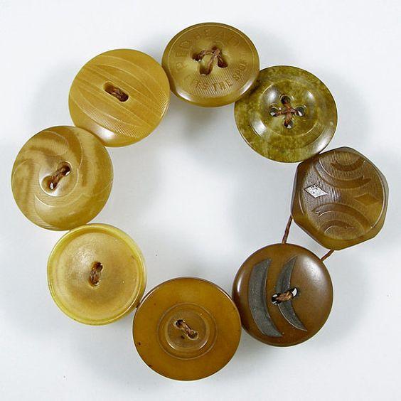 Vegetable Ivory Button Bracelet by XOHandworks $12