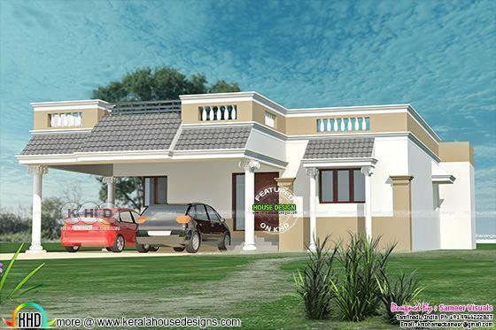 Admirable Tamilnadu Style 3 Bedroom Single Floor Home 1380 Sq Ft Download Free Architecture Designs Intelgarnamadebymaigaardcom