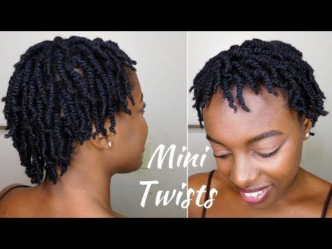 How To Super Juicy Mini Twists On Short 4c Natural Hair Youtube