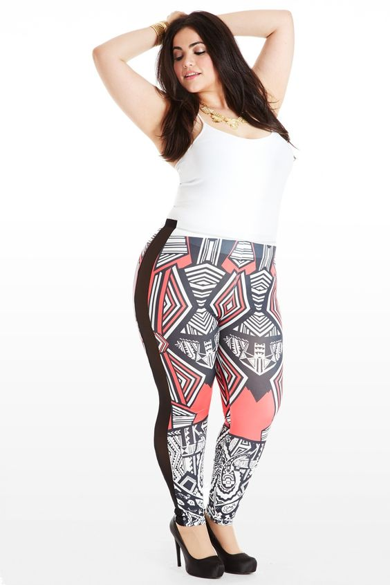 Models Plus size leggings and New york on Pinterest