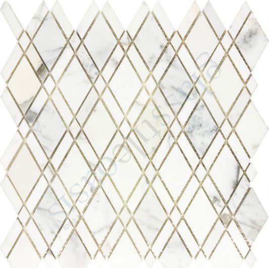 Champion Tile Backsplash Diamond Calacatta Gold Marble