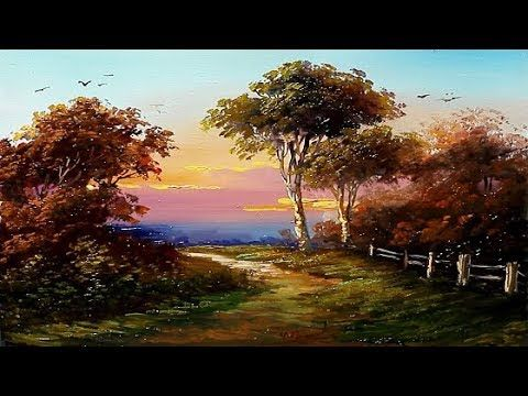 Painting Landscape Oil On Paper By Yasser Fayad Youtube Landscape Art Lessons Canvas Painting Landscape Oil Painting Landscape