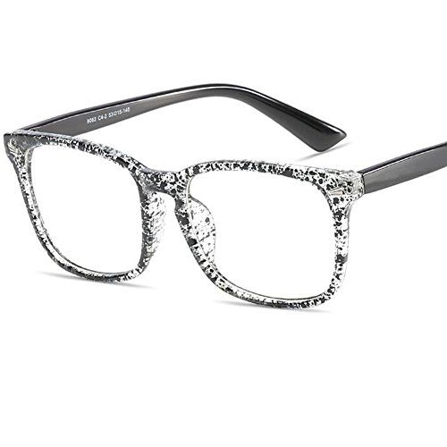 Nerd Brille Nerdbrille ohne Stärke Retro Unisex transparente Gläser Herren Damen