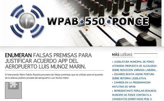 "@pab550 (Audio) : ""ENUMERAN FALSAS PREMISAS PARA JUSTIFICAR ACUERDO APP DEL AEROPUERTO LUIS MUNOZ MARIN."" http://pab550.com/site/index.php?option=com_content=article=666:-enumeran-falsas-premisas-para-justificar-acuerdo-app-del-aeropuerto-luis-munoz-marin=1:latest-news=184"