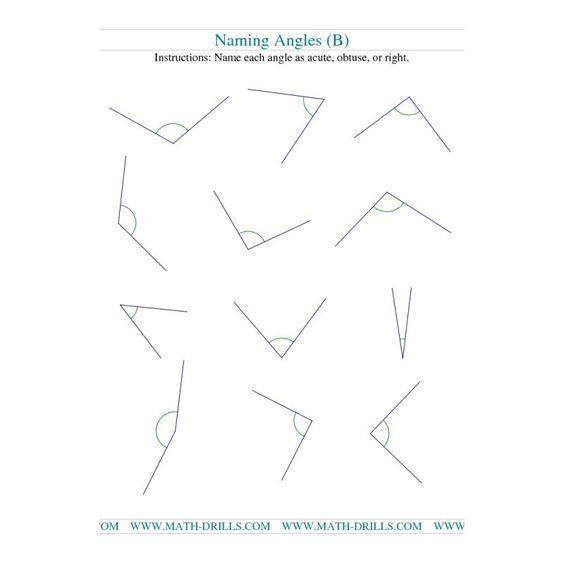 math worksheet : geometry worksheet  naming angles b  teaching ideas  math  : Math Geometry Worksheets