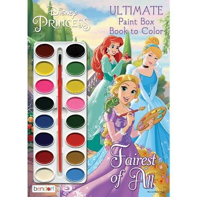 Disney Princess Paintbox Book Target Exclusive Edition In 2021 Coloring Books Disney Princess Characters Princess Painting