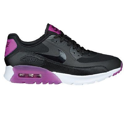 Nike Air Max 90 Ultra Essential Womens 724981-003 Black Running Shoes Size 6.5