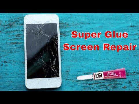 Repair A Phone Screen With Super Glue Youtube Glass Repair Phone Screen Iphone Glass