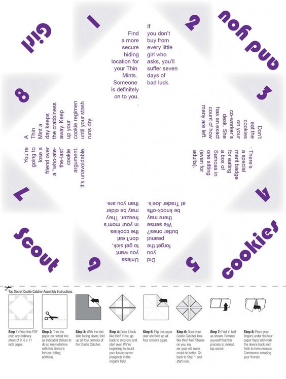 fold up fortune tellers girl scout cookies great way to kick off the sale girl scout daisy pinterest fortune teller gs cookies and catcher