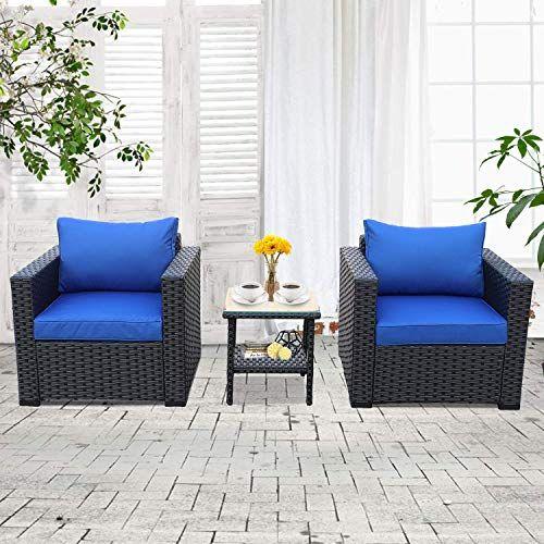 Patio Wicker Conversation Furniture