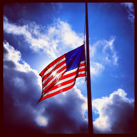 memorial day flag half mast until noon