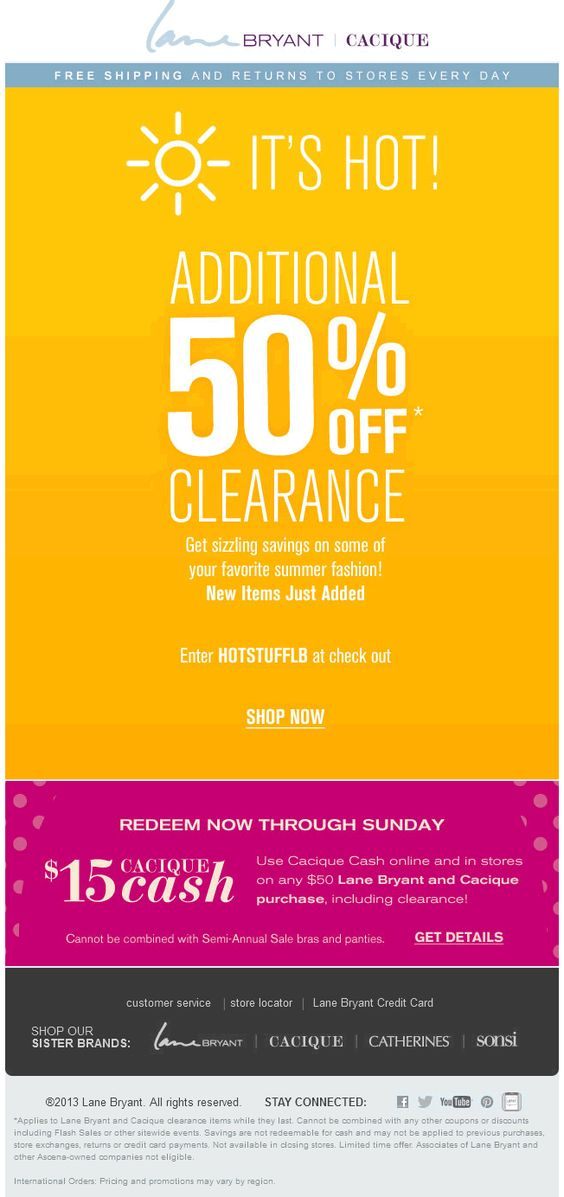 Pinned December 23rd: 50% off at Lane #Bryant, or online via promo ...