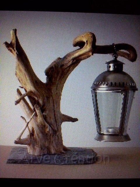 Lanterne bois flotte driftwood pinterest lanterns for Chandelier bois flotte