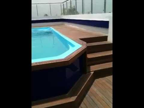 Readymade Swimming Pool Roof Top Youtube Swimming Pools Small Swimming Pools Rooftop Pool