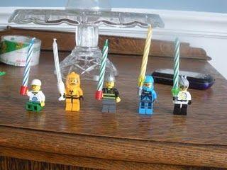 Lego Männchen für Geburtstagskerzen!