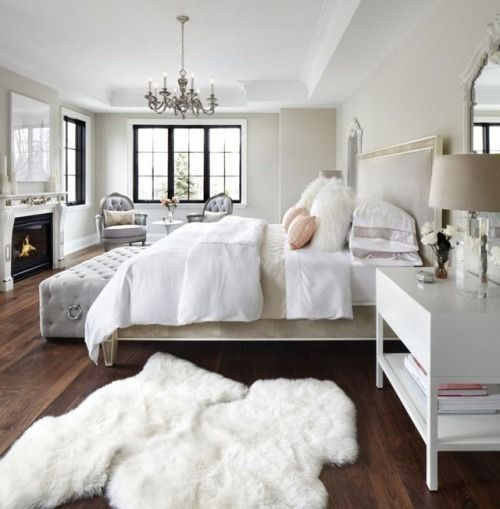 Soft white and neutral bedroom