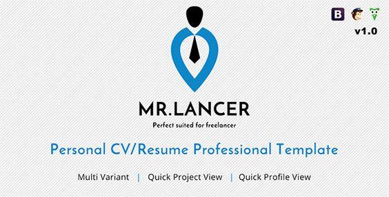 Mr.Lancer - Personal CV/Resume template  -  http://themekeeper.com/item/site-templates/mr-lancer-personal-cvresume-template