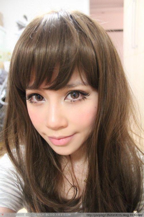 dark brown haired gyaru                                                       …
