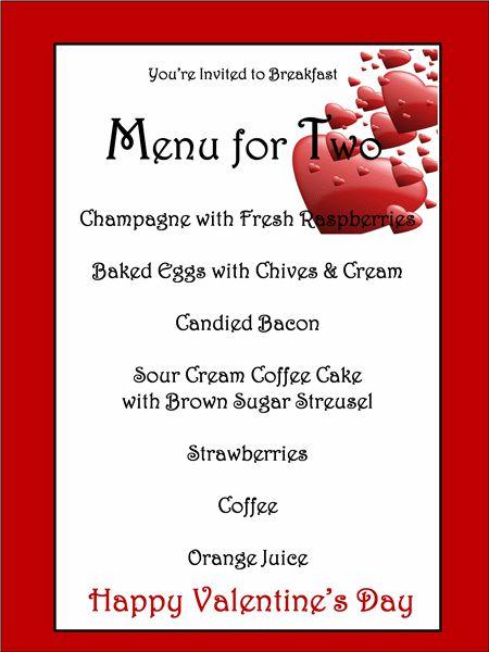 Menu template for valentines day eventful pinterest for Romantic valentine dinner menu ideas