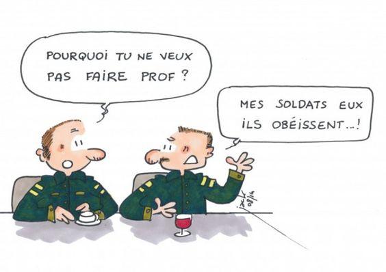 Les militaires ne se portent pas volontaires pour devenir profs !