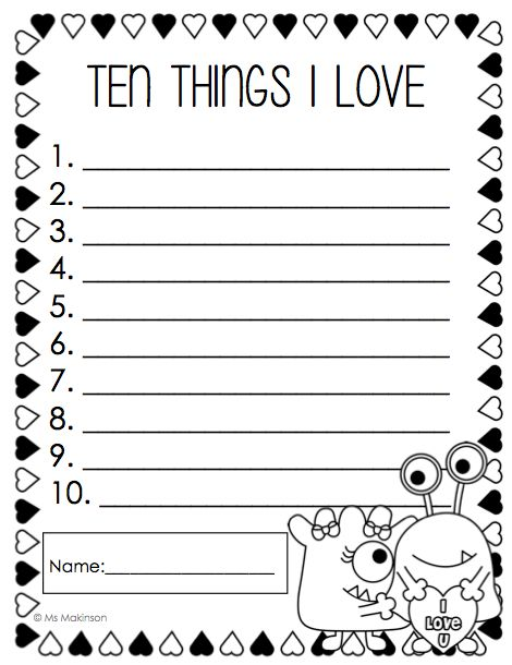 memo writing activity for first grade