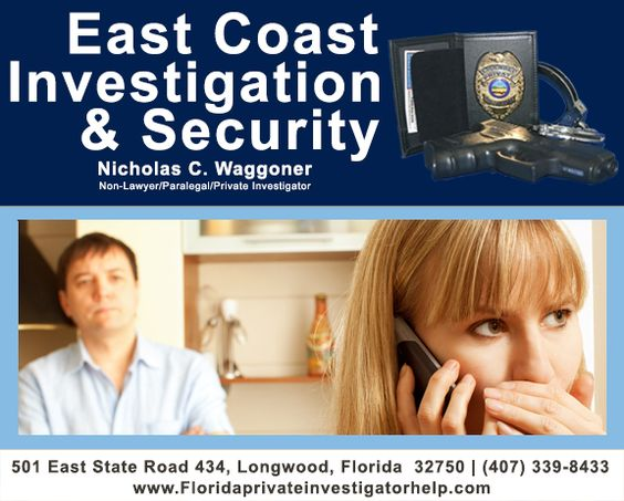 Issues of infidelity need to be handled by a private investigator who is not only experienced at surveillance and information gathering. www.floridaprivateinvestigatorhelp.com | (407) 339-8433