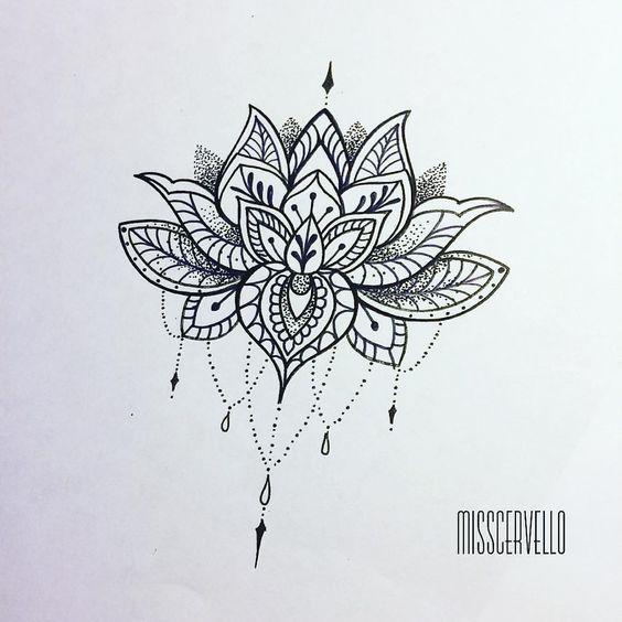 Flor De Lotus Mais De 70 Modelos De Desenhos Tatuagens Ideias Design De Tatuagem De Lotus Tatuagem De Lotus Em Mandala Tatuagem Flor De Lotos