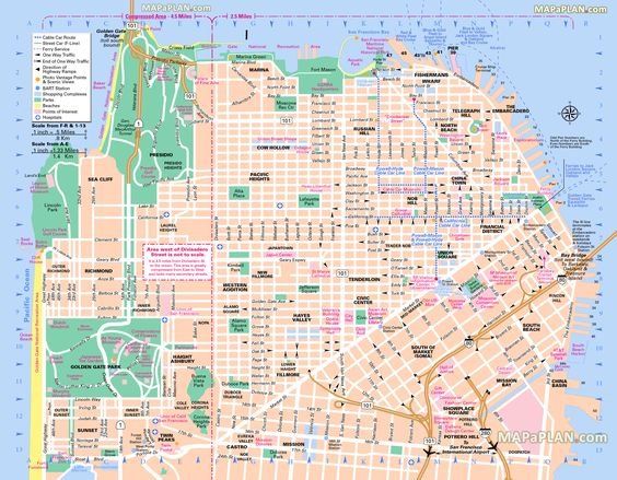 sanfranciscotoptouristattractionsmap06freemapmain – Hollywood Tourist Attractions Map