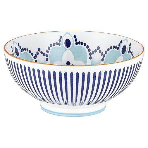Tesco Direct Kenza Large Serving Bowl Blue And Orange Tesco Direct Tesco Bowl