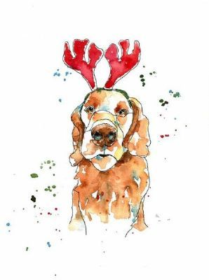 Milly in Festive Mood - Happy Christmas to You All! by Thea Cable