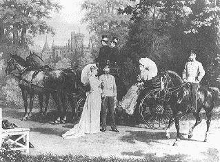 Laxenburg war für die Enkel des Kaisers - Franz Joseph I. (1830-1916) und seine Brüder - in der Kinderzeit der häufigste Landaufenthalt, wie diese und andere Darstellungen zeigen. Es wurde daher als erster Aufenthalt.