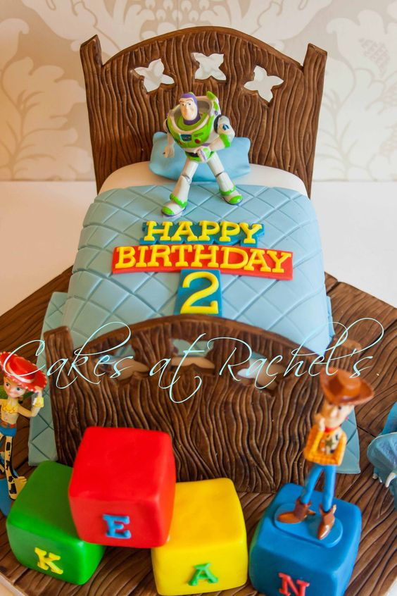 Toy Story Cake - Toy Story cake for a special little boys second birthday :) I especially loved making the hand painted wooden elements of this cake :) Follow me on Facebook at www.facebook.com/Cakes.at.Rachels