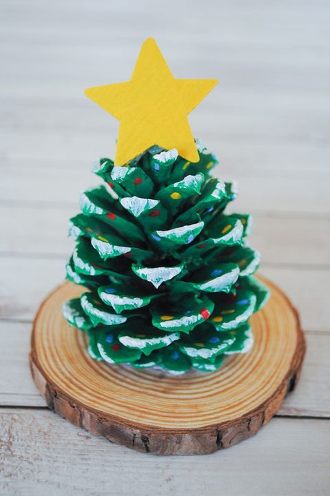 christmas crafts for kids pinecone