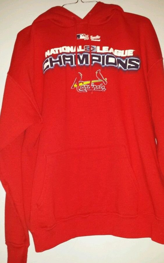 Lee Sports-St Louis Cardinals men's size large, hoodie.  Naional League champ. #LeeSport #StLouisCardinals