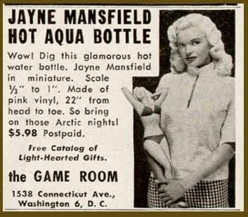Jayne Mansfield Hot Water Bottle The Allee Willis