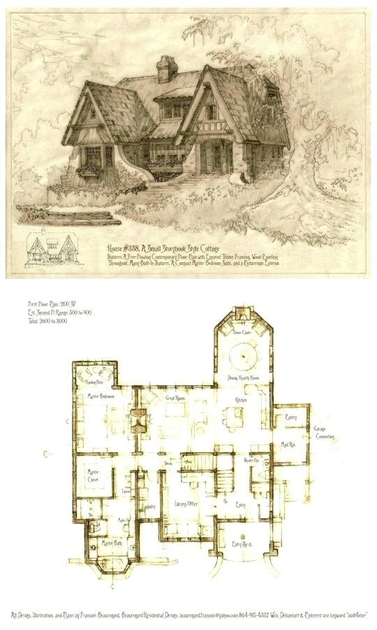 Storybook Cottage House Plans Homely Idea Fantasy Plans Fairy Tale