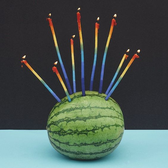 Thanks. Truely blessed and one year older / #stilllife #story number 40 #birthdaycake #watermelon