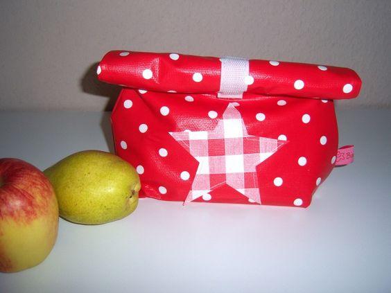 """Frühstückshüter """"Polka Dots""""rot-weiß von                                   Bine`s Stern auf DaWanda.com"""