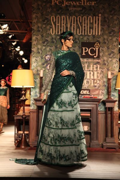 Sabyasachi Delhi Couture Week 2012 #sabyasachi #delhicoutureweek2012 #saree #lehnga #embellished #embroidery