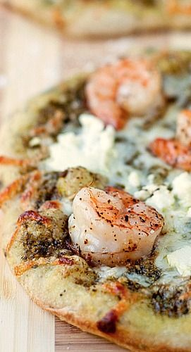 Hearts Of Palm, Shrimp And Cheese Pizza Recipe — Dishmaps