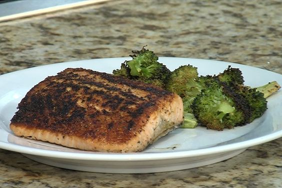 Pan Seared Salmon With Garlic Roasted Broccoli - WeAreGreenBay.com Green Bay Fox Cities News Weather Sports