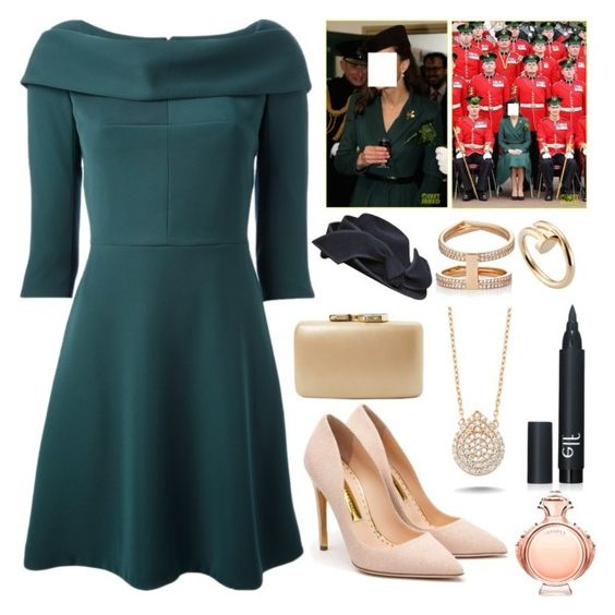 """""""Celebrating St. Patrick's Day at Mons Barracks in London."""" by duchessamparo ❤ liked on Polyvore featuring мода, Carven, Rupert Sanderson, Kayu, Repossi, Cartier, Amorium, Paco Rabanne, women's clothing и women"""
