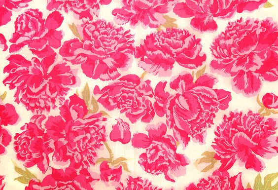 peonies in hot pink / christopher farr cloth