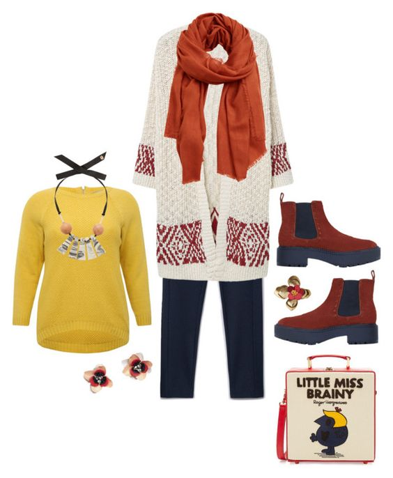 Little miss brainy by perpetto on Polyvore featuring moda, Violeta by Mango, M&Co, MANGO and Olympia Le-Tan