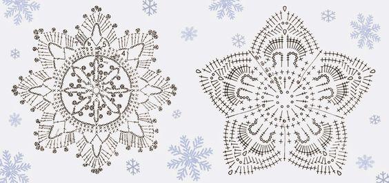 ... : Fiocchi di neve alluncinetto - decorazioni natalizie Fai da Te