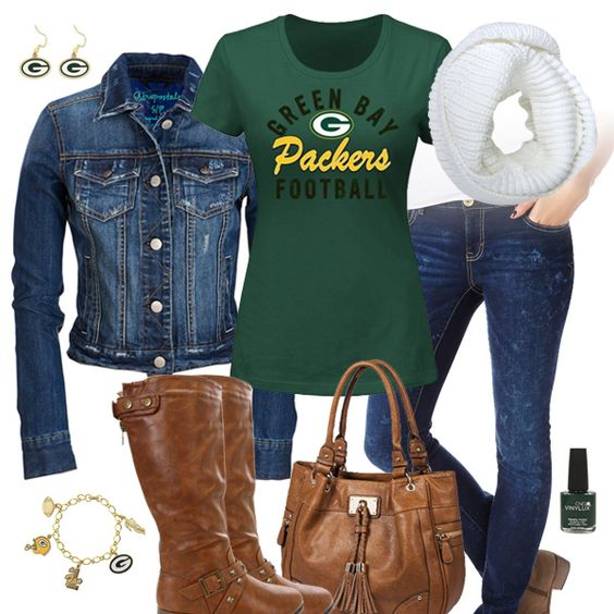 Green Bay Packers Jean Jacket Outfit