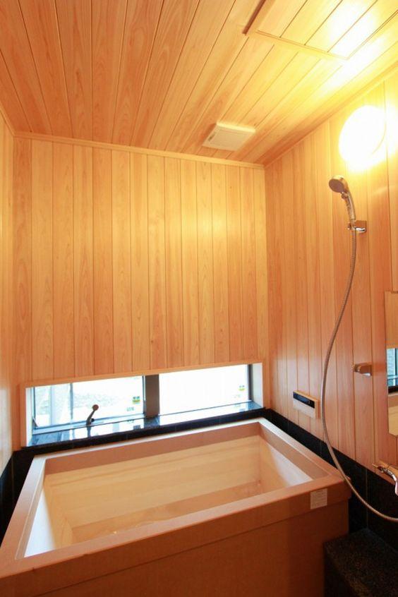 塗り壁に飫肥杉 桧風呂 家族を癒すお家 アンシン建設工業の写真集