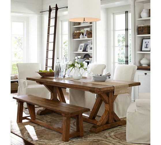 Wells extending dining table pottery barn for the home for Pottery barn style dining rooms